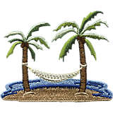 Palm Tree & Hammock Scene
