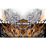 Harley Davidson - Fire & Wings