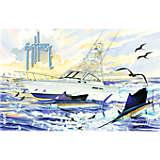 Guy Harvey® - Boat & Sailfish