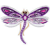 Shimmer Layered Purple Dragonfly
