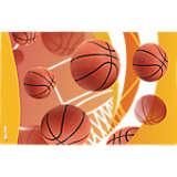 Basketballs Net & Golden Background