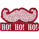 Santa Confetti Mustache