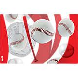 Baseballs Red & Mitt Background