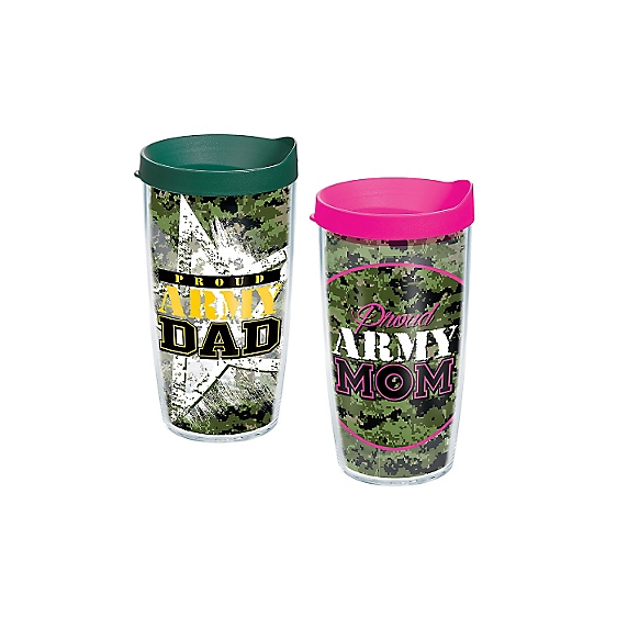 Proud Army Dad and Proud Army Mom 2-Pack Gift Set