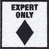 Black Diamond Ski Emblem