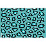 Teal Leopard Print