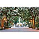 Georgia - Savannah Fountain Scene