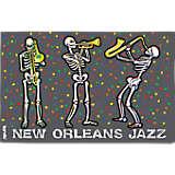 Louisiana - New Orleans Jazzy Skeletons