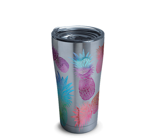 stainless steel tumbler watercolor pineapples with clear lid tervis official store - Tervis Tumblers