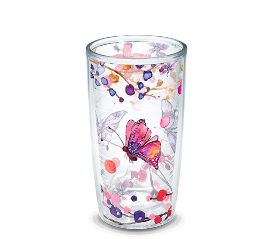 Watercolor Branches And Butterflies Wrap Tervis Official