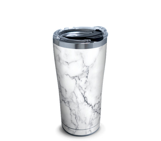 Stainless Steel Tumbler Marble Swirl With Clear And Black