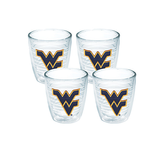 0d08c2020b8 West Virginia Mountaineers Logo Emblem Without Travel Lid 4-Pack ...