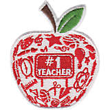 #1 Teacher - Modern Apple
