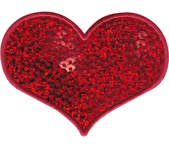 Red Sequins Heart image number 1