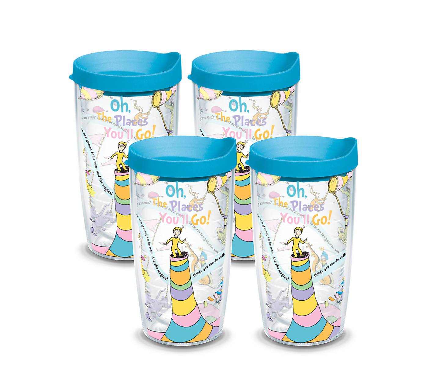 e336abe08ba Dr. Seuss™ - Oh the Places You'll Go Wrap With Travel Lid 4-Pack ...