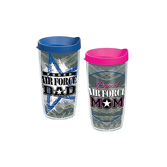 Proud Air Force Dad and Proud Air Force Mom 2-Pack Gift Set