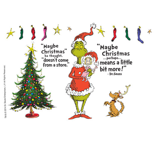 Dr. Seuss™ - Grinch Christmas Quote image number 1