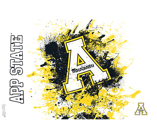 Appalachian State Mountaineers Splatter image number 1