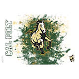 Cal Poly Mustangs Splatter