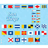 California - Nautical Flag San Diego