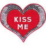 Felt Heart Kiss Me