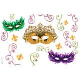 Mardi Gras Masks & Swirls