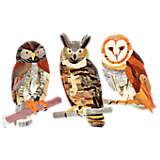 Woodgrain Owls