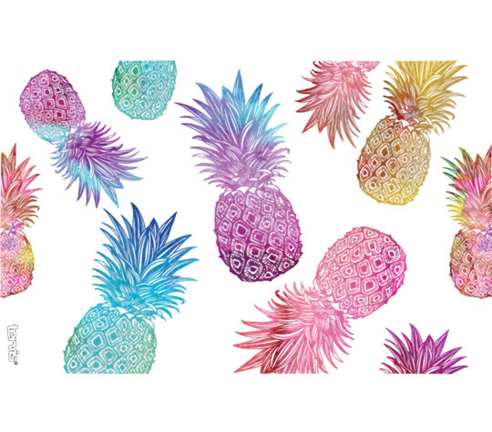 Watercolor Pineapples image number 1