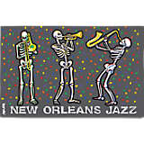 Louisiana - New Orleans Jazzy Skeletons