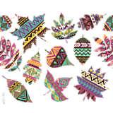 Fall Aztec Leaves