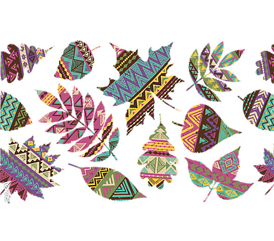 Fall Aztec Leaves image number 1