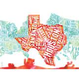Texas Typography Map