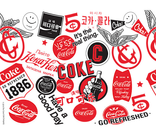 Coca-Cola® - All Over Logo image number 1