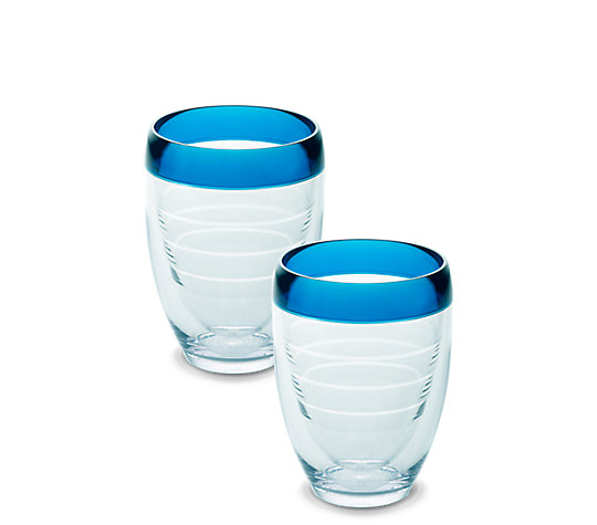 Stemless Wine Glass, Blue Infusion