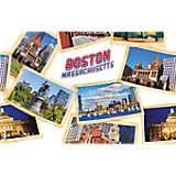 Massachusetts - Boston Collage Postcard