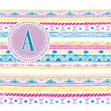 INITIAL-A Aztec Monogram