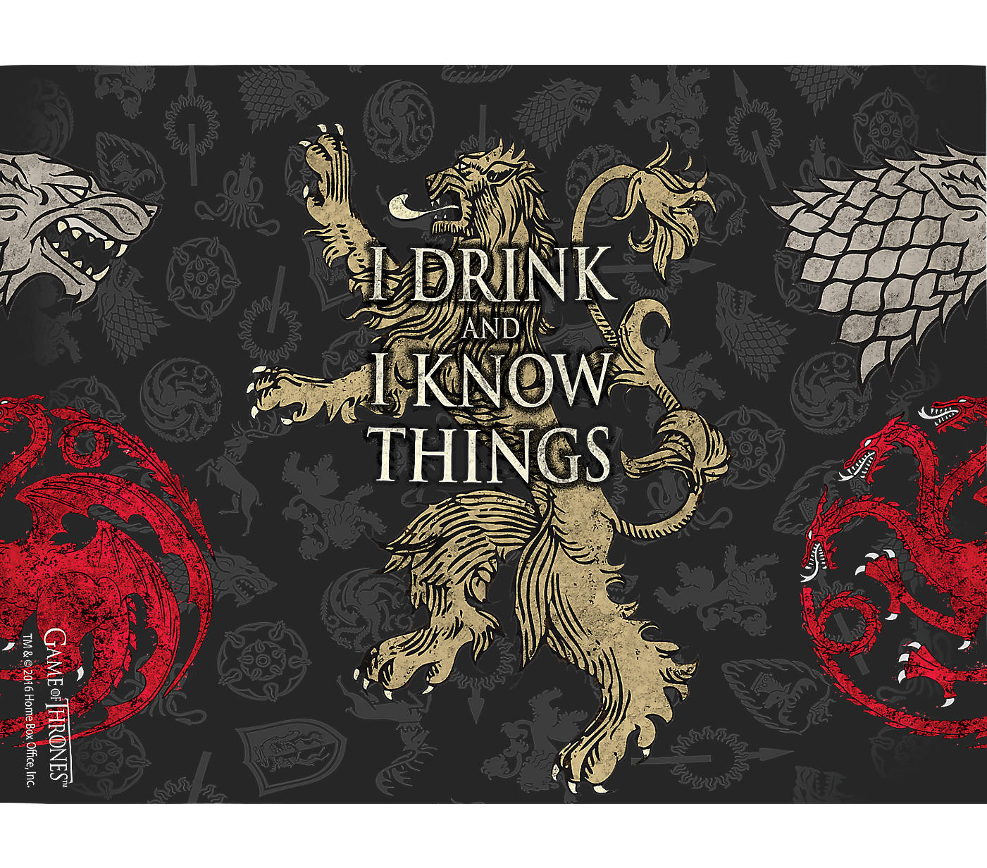 928285f0f23 Game of Thrones™ - House Lannister Wrap With Travel Lid | Tervis ...