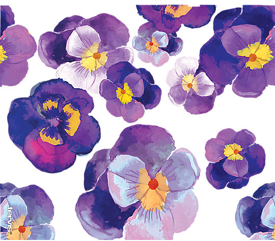 Watercolor Pansy image number 1