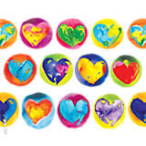 Multicolored Hearts