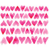 Pink Hearts All Over