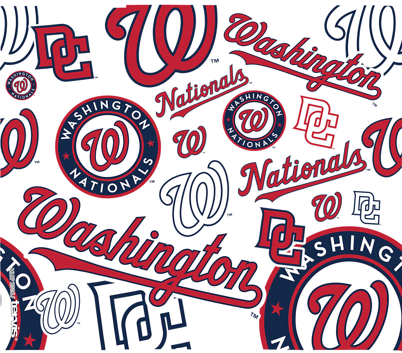 Washington Nationals Traditions Water Bottle by Tervis 24 ounce with lid