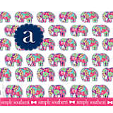 INITIAL-A Simply Southern® Elephant