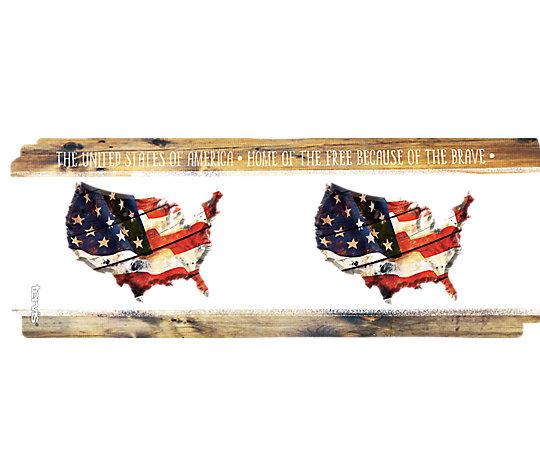 Woodgrain American Flag