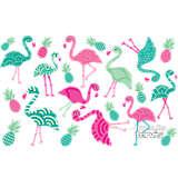 Stainless Steel Tumbler, Flamingo Pattern