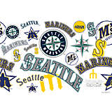 MLB® Stainless Steel Tumbler, Seattle Mariners™ All Over