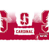 Stainless Steel Tumbler, Stanford Cardinal Knockout