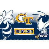 Stainless Steel Tumbler, Georgia Tech Yellow Jackets Knockout