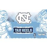 Stainless Steel Tumbler, North Carolina Tar Heels Knockout