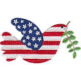 Dove American Flag