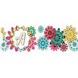 INITIAL-A Flower Burst